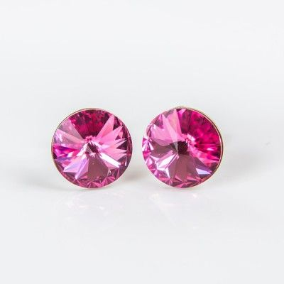 Swarovski Rivoli Earrings 6mm Rose  Dimensions: length:1,4cm stone size: 6mm Weight ~ 0,70g ( 1 pair ) Metal : sterling silver ( AG-925) Stones: Swarovski Elements 1122 SS39 ( 1122 6mm ) Colour: Rose 1 package = 1 pair Price 7.49 PLN( about`2 EUR)