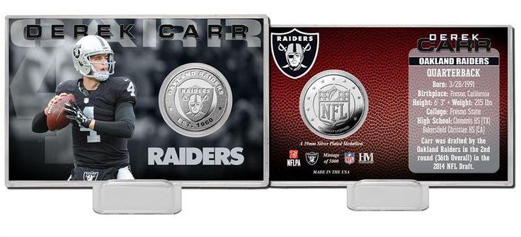 Oakland Las Vegas... http://www.757sc.com/products/oakland-las-vegas-raiders-derek-carr-silver-mint-coin-card-limited-edition-of-5000?utm_campaign=social_autopilot&utm_source=pin&utm_medium=pin #nfl #mlb #nba #nhl #ncaaa #757sc