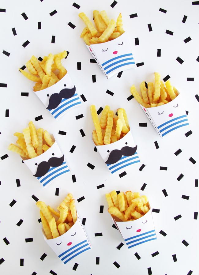 DIY Printable French Fries Boxes | Design Is Yay!