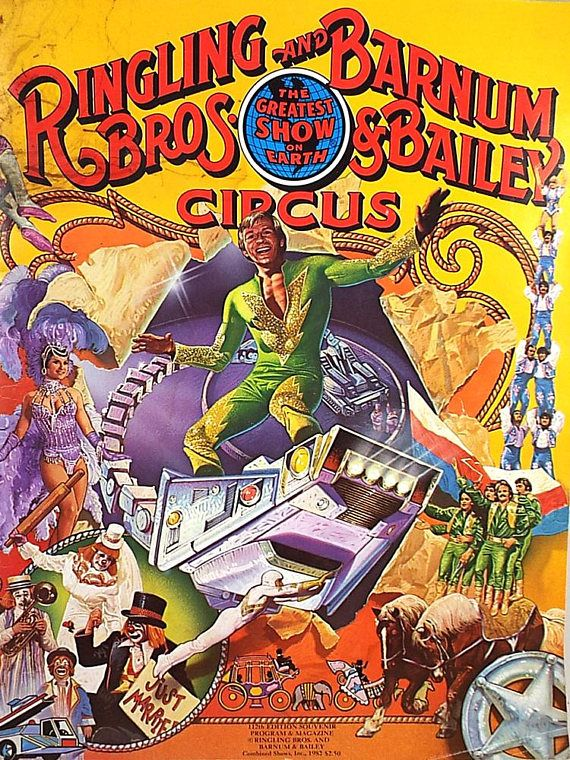 1982 Ringling Brothers and Barnum and Bailey Circus Program