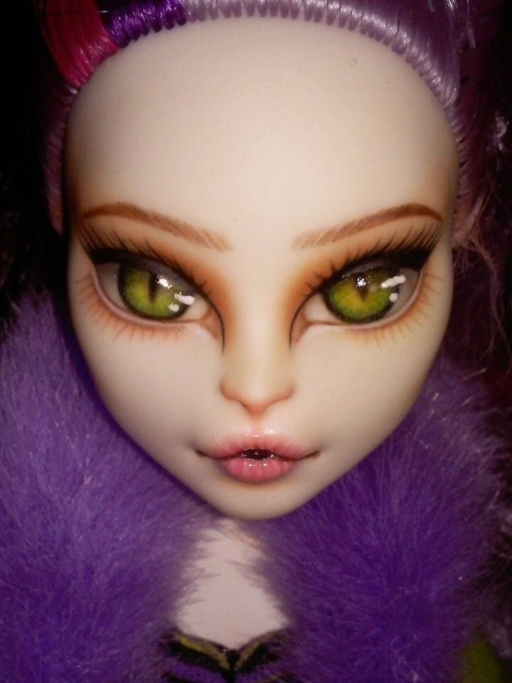 OOAK Monster High Catrine DeMew doll repaint faceup