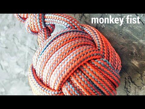 "(11) Как сплести узел ""Кулак обезьяны / Monkey's Fist"" из паракорда - YouTube"