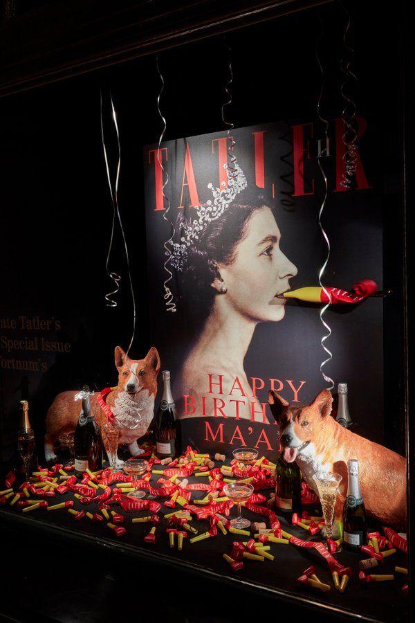 "FORTNUM & MASON,London, UK, ""Happy Birthday Ma'am!"", photo by VM Focus, pinned by Ton van der Veer"