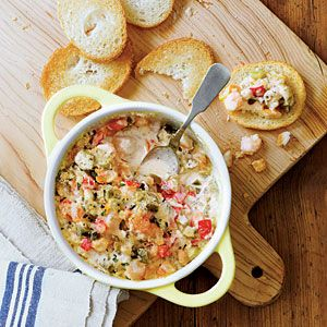 Enjoy seafood well into football season with this warm gumbo dip that's great for tailgating.
