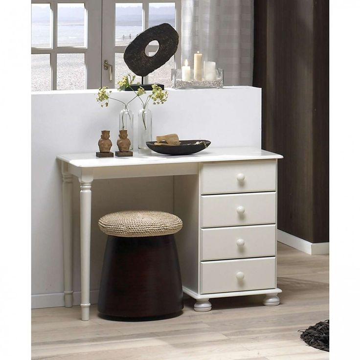 Fie că îl folosești ca birou sau loc de înfrumusețare, acest model se va potrivi de minune în dormitorul tău. http://www.emobili.ro/cumpara/maa105-masa-alba-toaleta-cosmetica-machiaj-masuta-vanity-birou-cu-4-880 #eMobili