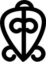 Adinkra Symbols of West Africa: Odo Nnyew Fie Kwan  No matter what we go thru it is a blessing to know that LOVE IS REAL!