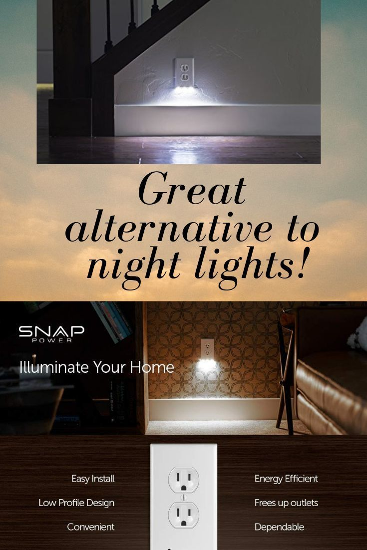 Outlet Wall Plate With Led Night Lights No Batteries Or Wires Safe For Kids As It Doesn T Heat Up Like Regular Nig Led Night Light Night Light Plates On Wall