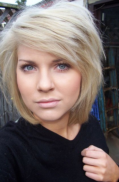 This tousled bob is a great example of the evolution of short hair if you're growing out a pixie cut