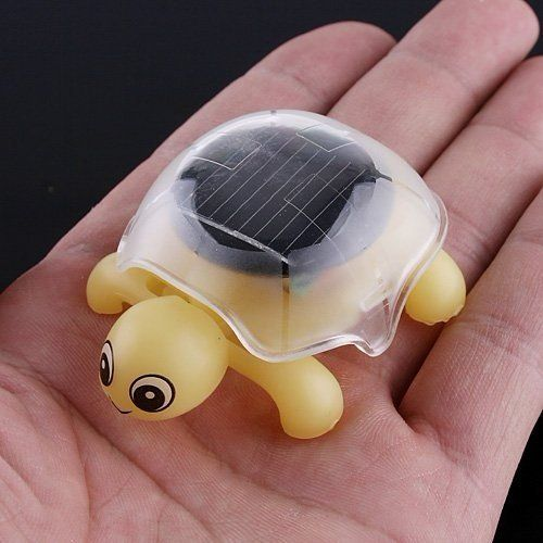 Mini Solar Educational Toy Little Tortoise Solar Powered Turtle with Solar Panel for Kids Funny Toy $4.46 #topseller