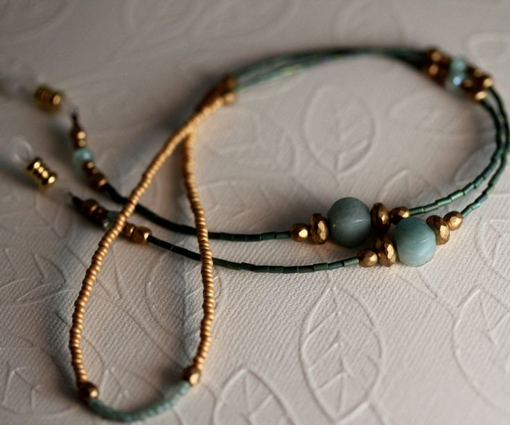 Adventurine Eyeglass Chain, Artisan Eyeglass Necklace, Eyewear, Eyeglass Holder, Fall Accessories, Women, Gifts for Women