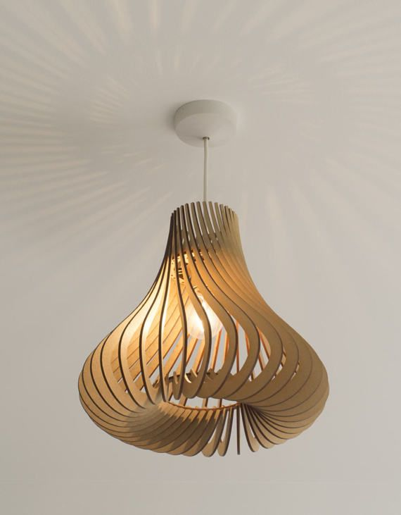Twisted Lasercut Wooden Lampshade No.4 Hershey's Kisses