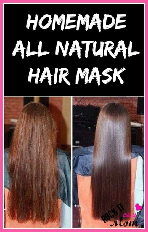 Homemade All Natural Hair Mask...only TWO ingredients! ~ RockItLikeAMom.com >>http://rockitlikeamom.com/homemade-all-natural-hair-mask/