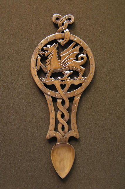 lovespoon 45 [spoon45] - £67.00 : Welsh love spoons The Lovespoon Gallery