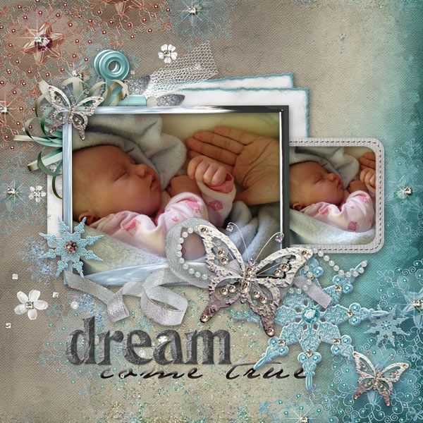 Layout of the day. Digital Scrapbooking