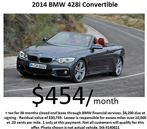 Thursday Special : 2014 #BMW 428i Convertible for $454/month! Offer Expires: 11/30/2014!   More specials available at: www.centurywestbmw.com/specials/index.htm