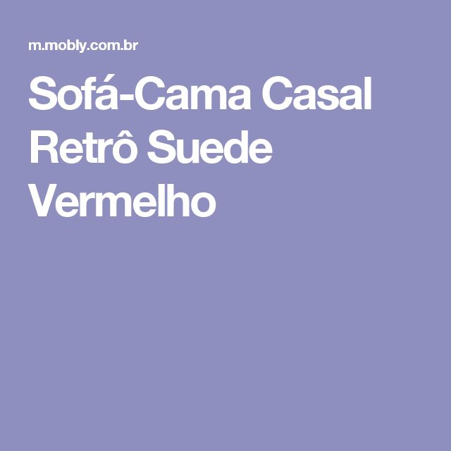 Sofá-Cama Casal Retrô Suede Vermelho