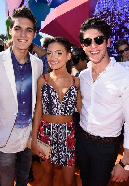 Daniela Nieves Photos Photos - (L-R) Actors Nick Merico, Daniela Nieves and Rahart Adams attend Nickelodeon's 28th Annual Kids' Choice Awards held at The Forum on March 28, 2015 in Inglewood, California. - Nickelodeon's 28th Annual Kids' Choice Awards - Red Carpet