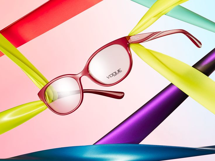 Expanding your color palette is now easy thanks to Vogue Eyewear's Rainbow glasses.