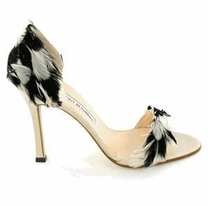 Black and White Manolo Blahnik Shoes