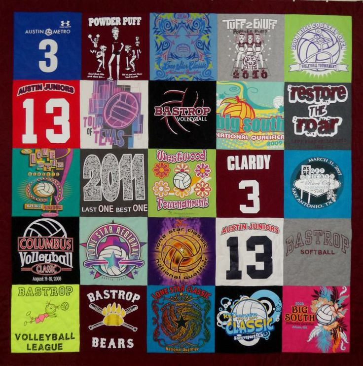 Bastrop High School T-shirt Quilt Bear Memory Quilt