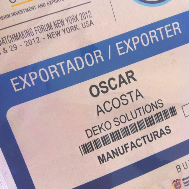 Dek-o representante por colombia en el business matchmaking forum Ny en diseno y manufactura de mobiliario de alta gama