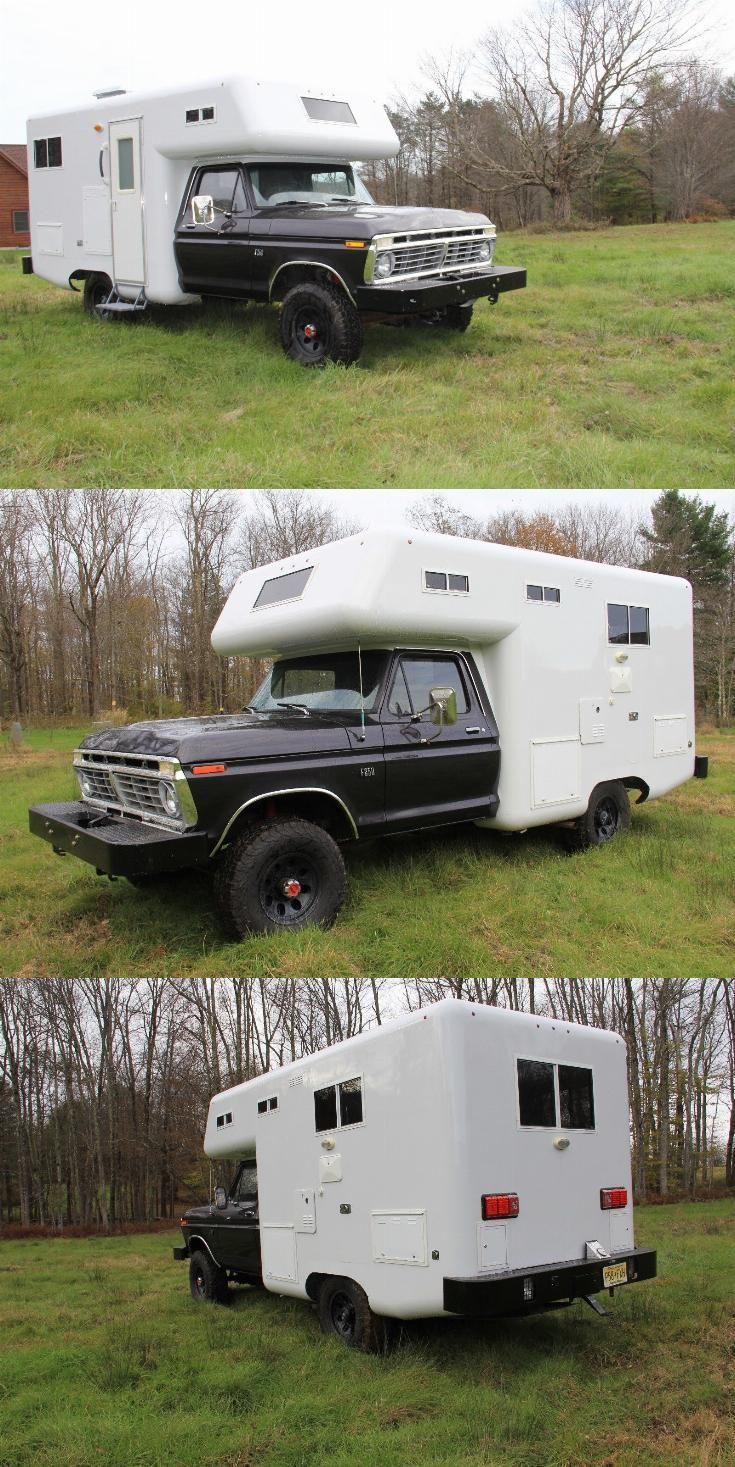 Ford F 250 Vintage Truck Camper Truck Campers For Sale Truck