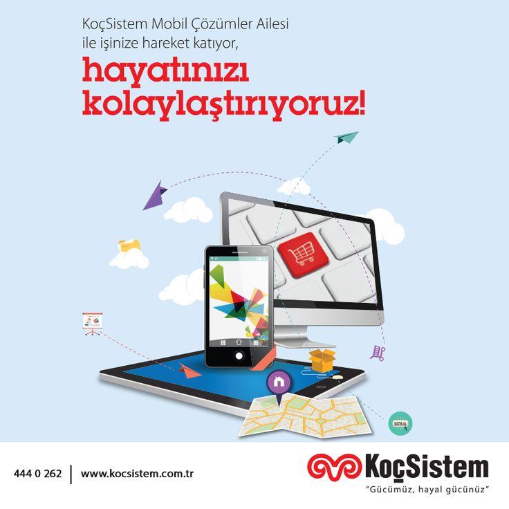 Mobil uygulamalar alanında sahip olduğu 10 yılı aşkın tecrübesiyle, tedarik ve lojistikten satış sonrası hizmetlere kadar tüm iş süreçleriniz için mobil çözümler geliştiren KoçSistem, ihtiyaçlarınız doğrultusunda uygulamalarınızı, RFID, harita tabanlı çözümler ve M2M altyapısı ile de destekliyor, endüstriyel el terminallerinden güncel mobil platformlara kadar farklı altyapı ve cihazlarda sunarak işinize hareket katıyor!