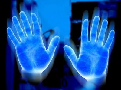 Note to self: Petroleum Jelly also glows under black light.