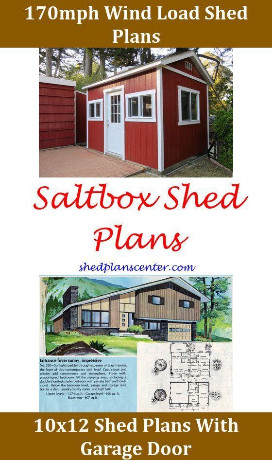 10x10 Gable Shed Plans On Concrete Slab Shedplans12x20 Free Saltbox