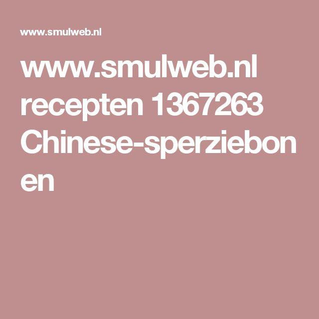 www.smulweb.nl recepten 1367263 Chinese-sperziebonen