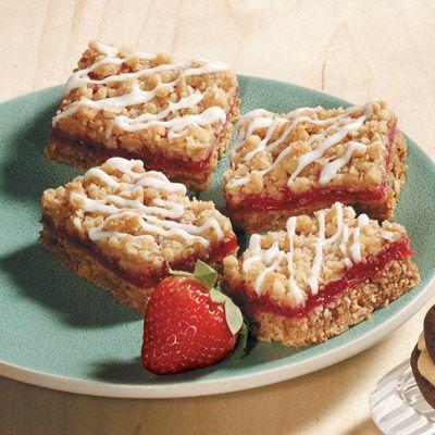 Strawberry Rhubarb Dessert Bars from Land O'Lakes