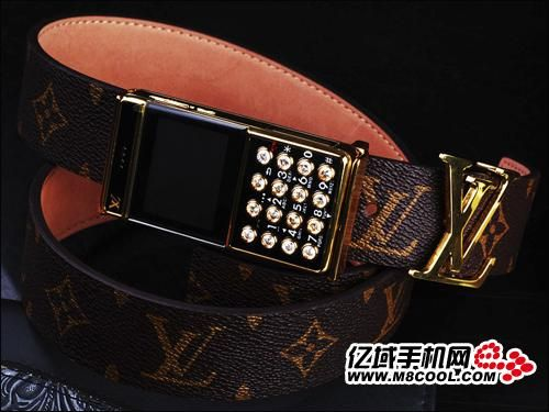 HAH. Louis Vuitton belt buckle, for when my Boost Mobile stop chirpin'.    [NSFW: http://youtu.be/atHekn9KE18?t=1m44s]