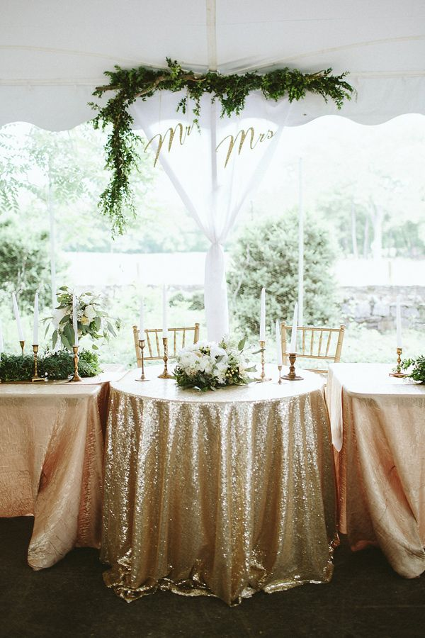 backyard wedding sweetheart table - photo by Kaytee Lauren http://ruffledblog.com/glam-handcrafted-virginia-wedding