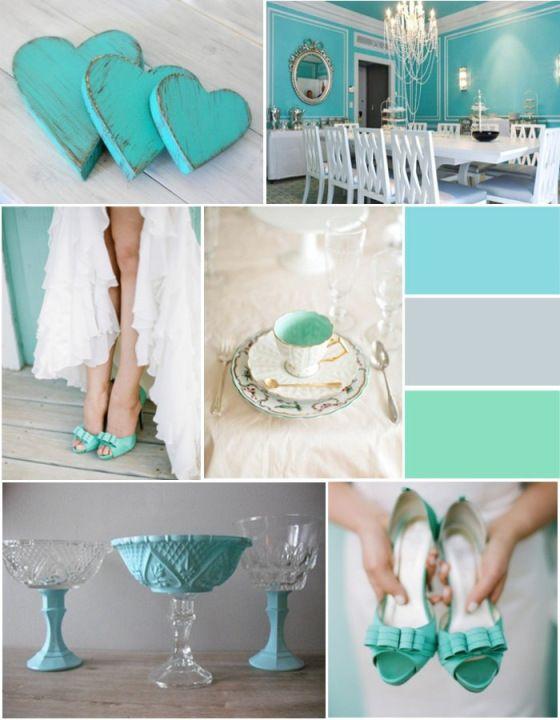 Paleta de cores Azul Tiffany