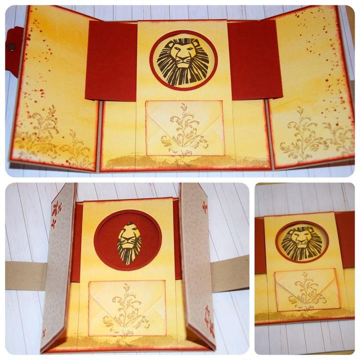 Herzlich Willkommen beim Papierfräulein: König der Löwen Basteln, Stampin Up, Karte mit magischem Fenster