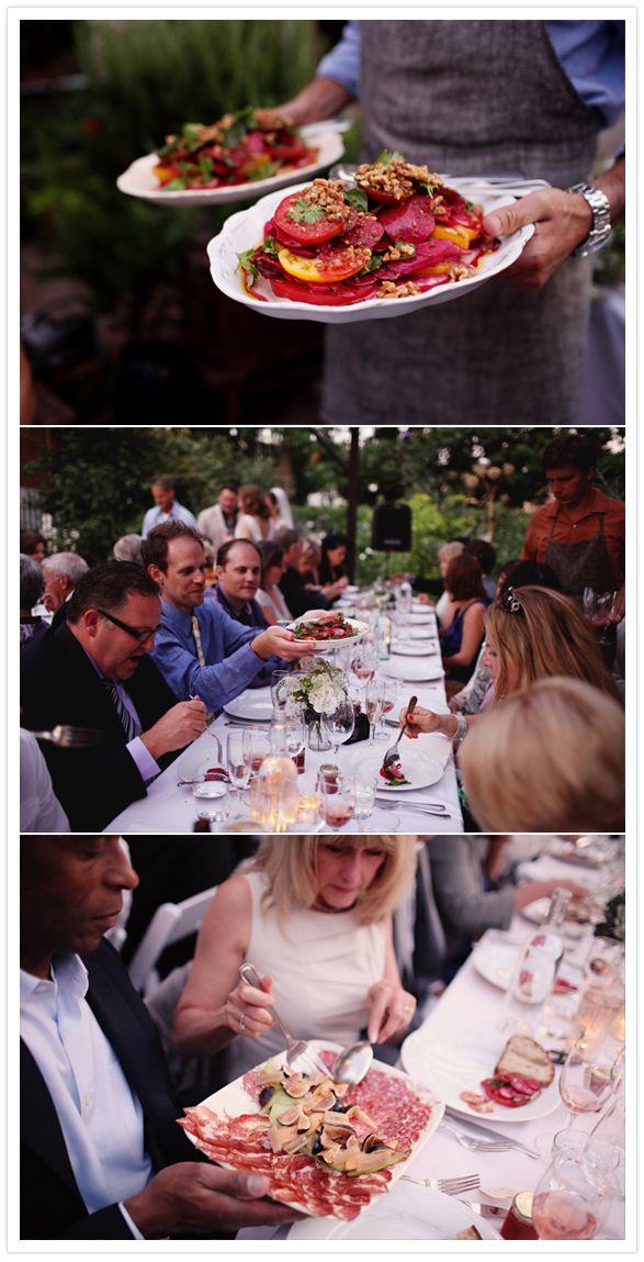 Family Style Dinner service. seattle wedding venue corson building