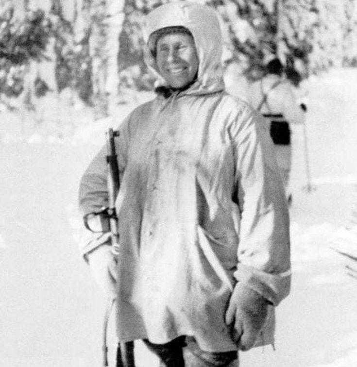 "O franco-atirador finlandês Simo Häyhä, apelidado de ""Morte Branca"", matou 545 solados soviéticos durante a Guerra de Inverno"