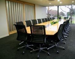 Custom made boardroom table by Decorum Designs