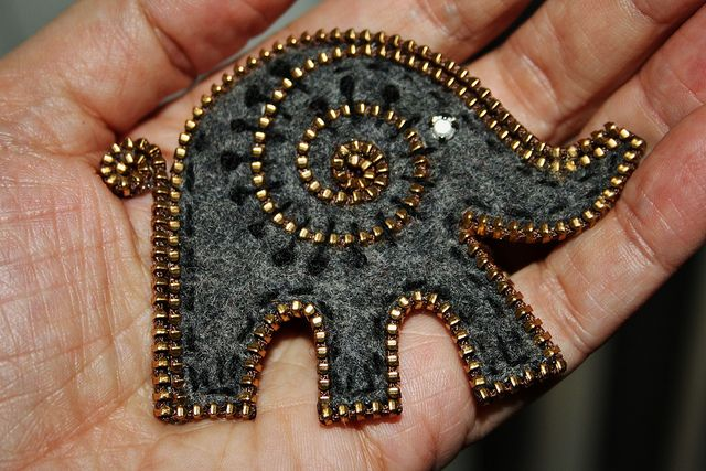 Had to try making a little elephant by woolly  fabulous, via Flickr