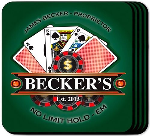 Poker Coaster Set