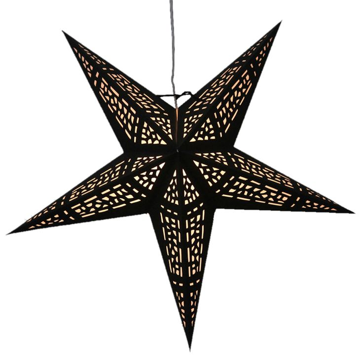 Vitral Black star Lamps http://www.29june.com/index.php/paper-stars.html