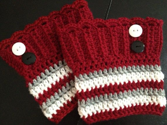 Ohio State OSU Boot Cuffs