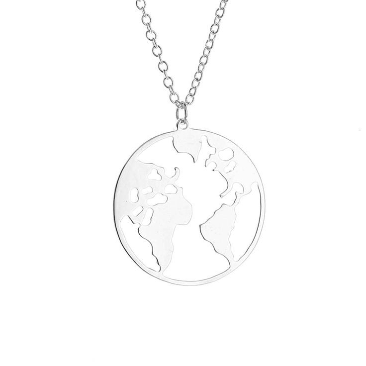 114 best my jewelry images on pinterest hot selling world map necklace jewelry round hollow world map necklace personalized fashion outdoor gumiabroncs Images