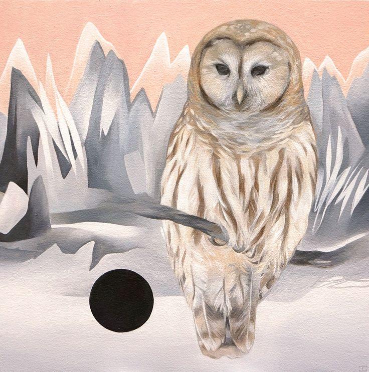 JENNIFER CLARK -  DAY & NIGHT, 2016 Acrylic on Canvas 20˝× 20˝