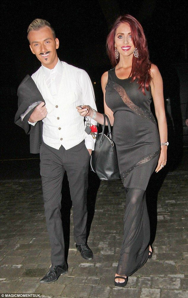 Best of friends: Amy was joined by her cousin Harry Derbidge, who was dressed as a French ...