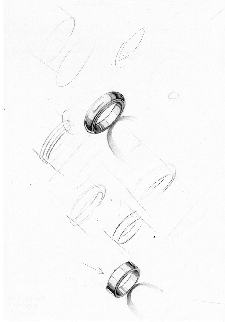 Band Ring structural sketches