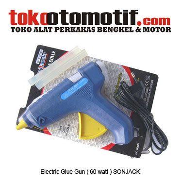 Kode : 02115038902 Nama : Electric glue gun Merk : SONJACK Tipe : (60 WATT) SJ-EGG60 Status : Siap Berat Kirim : 1 kg