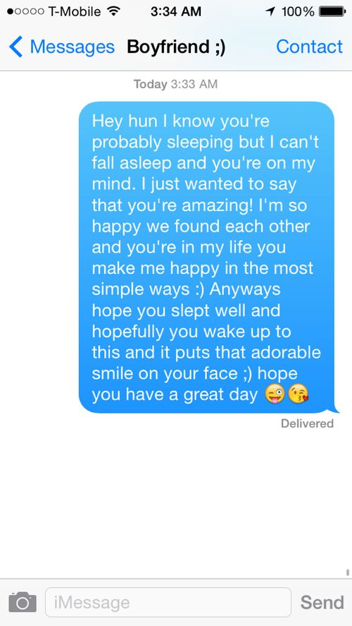 Cute Things To Post On Your Boyfriends Facebook Wall Tumblr : Boyfriend Texts on Pinterest Relationship goals text, Cute boyfriend ...