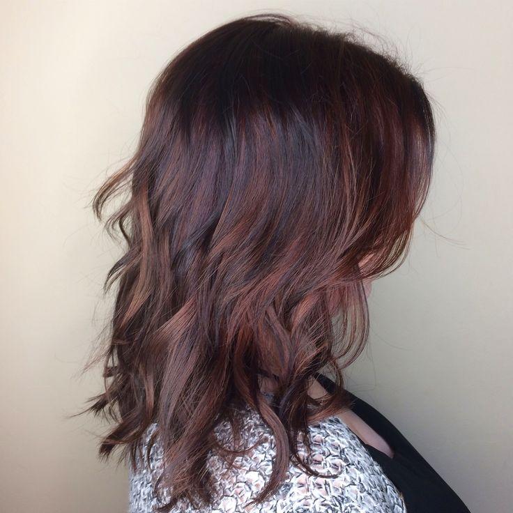 rose gold hair balayage lob brunette haare pinterest fr hlingsblumen basteln. Black Bedroom Furniture Sets. Home Design Ideas