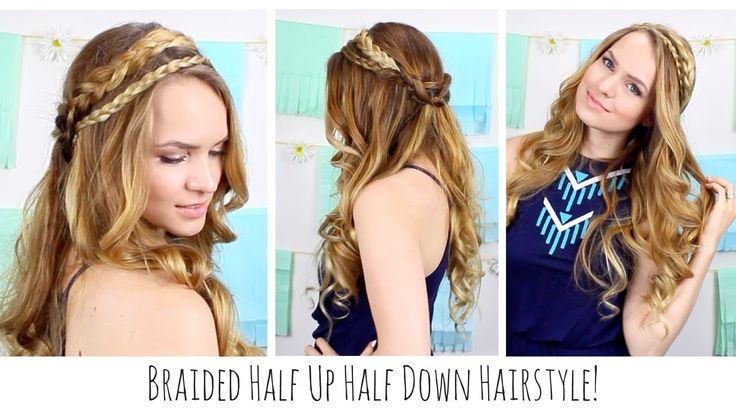 Boho Braided Half Up Half Down Hairstyle! Perfect for summer!
